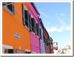 Couleurs des maisons de Burano